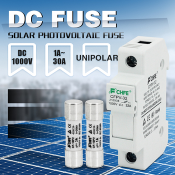 цена на 1pcs Solar PV Fuse Holders suitable for 10*38mm PV fuse Fuse Link  for solar system protection DC FUSE