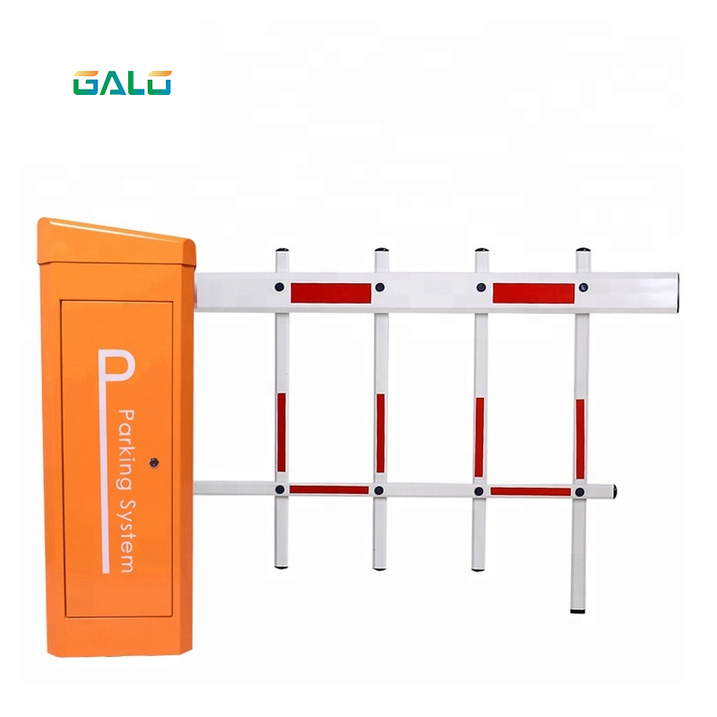 barreira de estacionamento posta solar do crescimento reto 04