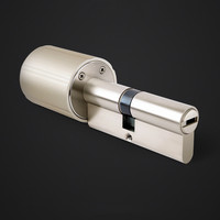 Smart Lock Cylinder Intelligent Practical Anti theft Security Door Lock 128 Bit Encryption With 5 Keys Tuya APP Upgrade Version