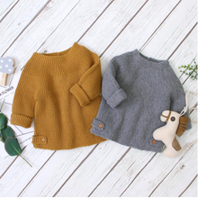 Baby Sweaters Pullovers Fashion Solid Knitted Kids Girls