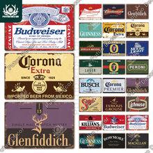 Putuo decoração cerveja vintage estanho sinal de metal placa decorativa retro placa decoração da parede bar pub clube homem caverna cerveja cartaz