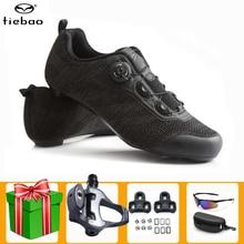 Tiebao Professional Road Bike Cycling Shoes Men Black Bicicleta Sapatilha Ciclismo Self-Locking Athletic Bicycle Sneakers Women