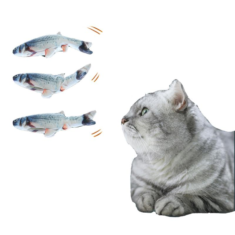 Cat Toys Electric Catnip Fish Cat Wagging Fish Realistic Plush Simulation Fish Kitten Chewing Toy Catnip Stuffed Toy Pet Product