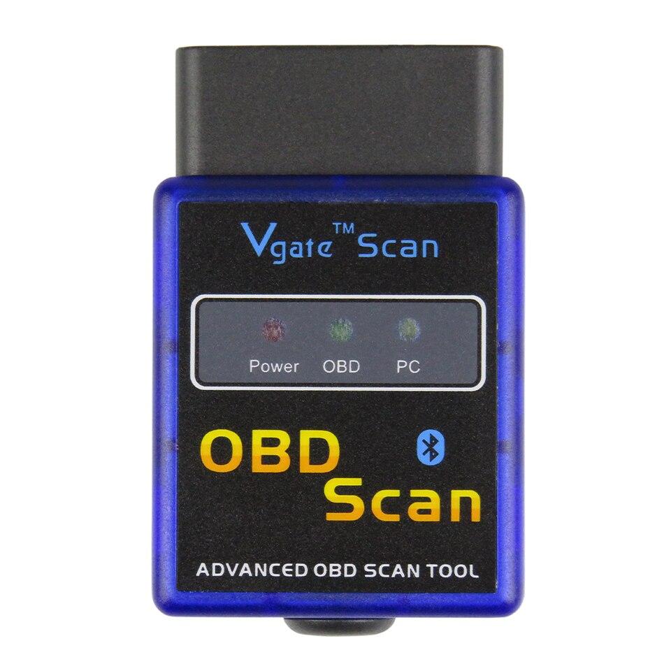 Vgate сканер ELM327 Bluetooth V1.5 OBD2 автомобильный диагностический сканер для Android ELM 327 V 1,5 OBDII OBD 2 Авто диагностический инструмент