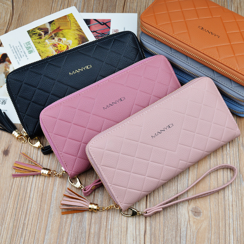 2020 new long female wallet multifunctional female zipper change large capacity mobile phone bag card holder