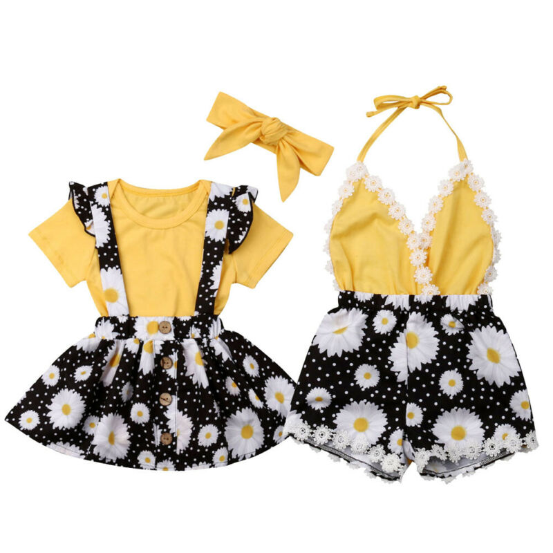 Newborn Summer Outfits Toddler Kids Baby Girl Infant Lace Romper Dress Jumpsuit Playsuit Clothes Matching Clothes