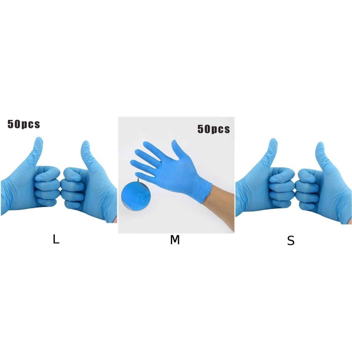 50pcs S/M/L PVC Disposable Mechanic Gloves Waterproof Non-Slip Comfortable For Left And Right Hand Dishwashing Non-Slip