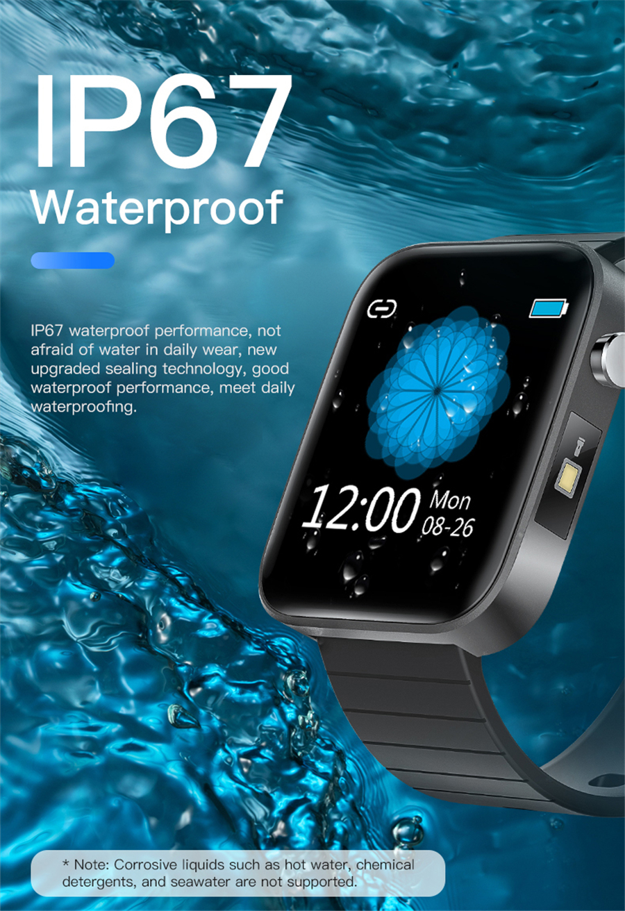 H85f9612082eb47828cd0b36530259c8ck T68 Men Women Smart Watch with Body Temperature Measure Sports Fitness Watch Heart Rate Blood Pressure Oxygen Monitor Smartwatch
