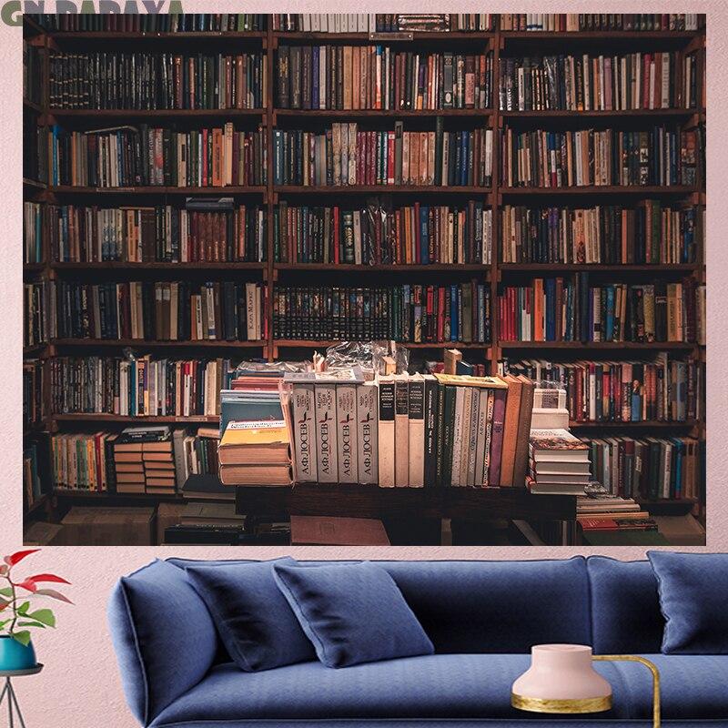 Retro Bookshelf Tapestry hippie Wall Hanging personality Pop style goblen Home Decor Art Farmhouse Wall Carpet wall towel