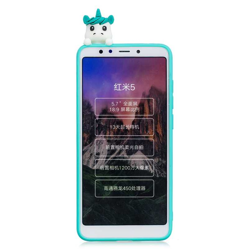 3D Panda Patr/ón Ultra Delgado TPU Cover Suave Silicona Carcasa Gel Anti-Rasgu/ño Protectora Espalda Bumper Case para Xiaomi Redmi 5 Plus Funluna Funda Xiaomi Redmi 5 Plus Verde