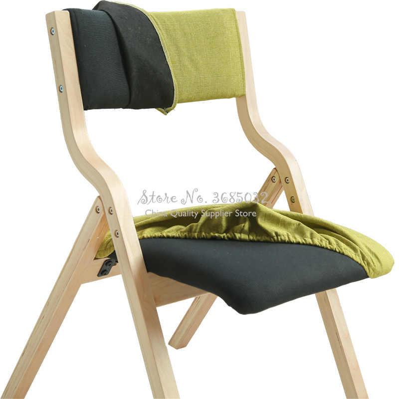 chaise pliante housse de siege amovible lavable meubles de salon gain de place chaise durable cadre en bois courbe