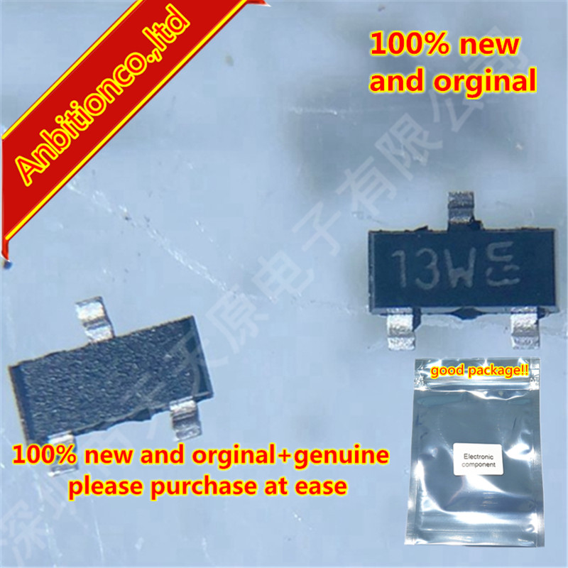 50pcs 100% New And Orginal BSS84 SOT-23 Silk-screen 13W  In Stock