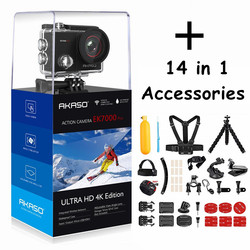 AKASO go EK7000 Pro 4K Action Camera deportiva Touch screen Sports Camera EIS Adjustable View Angle 40m underwater Camera Wifi