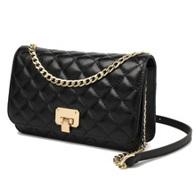 2019 Hot Luxury Brand Cow Genuine Leather woman Crossbody  Rhombus Shoulder Small Square With Chain Bag