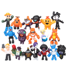 Disney 18pcs/lot Brawl game Anime cartoon Action Figure Doll Hand toy model cute Children's toy gift birthday toy gift 4pcs lot super climber stikbot action figure toy cartoon spider man stik bot funny play collection jouet children birthday gift
