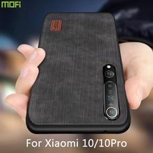 Mofi pour xiaomi mi10 étui pour Mi 10 pro housse Mi10 boîtier Silicone antichoc jean cuir PU noir TPU xiaomi mi10