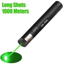 Лазерная ручка, черный прочный Видимый луч, лазерная точка, мощная лазерная ручка, красный, зеленый лазер, непрерывная линия, 10000 метров