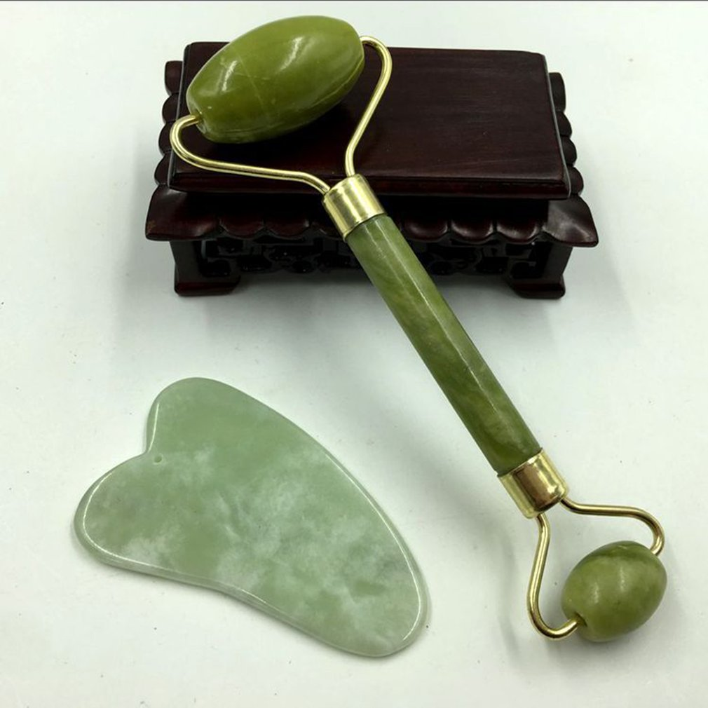 Natural Jade massageador Facial Rolo de Beleza