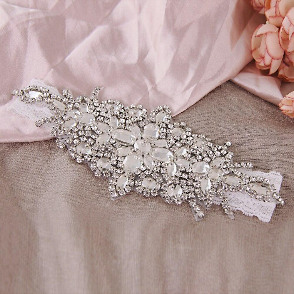 TRiXY THS01 Stunning Rhinestone Wedding Garter Blue Leg Crystal Sexy Garters For Women/Female/Bride Thigh Ring Bridal Leg Garter