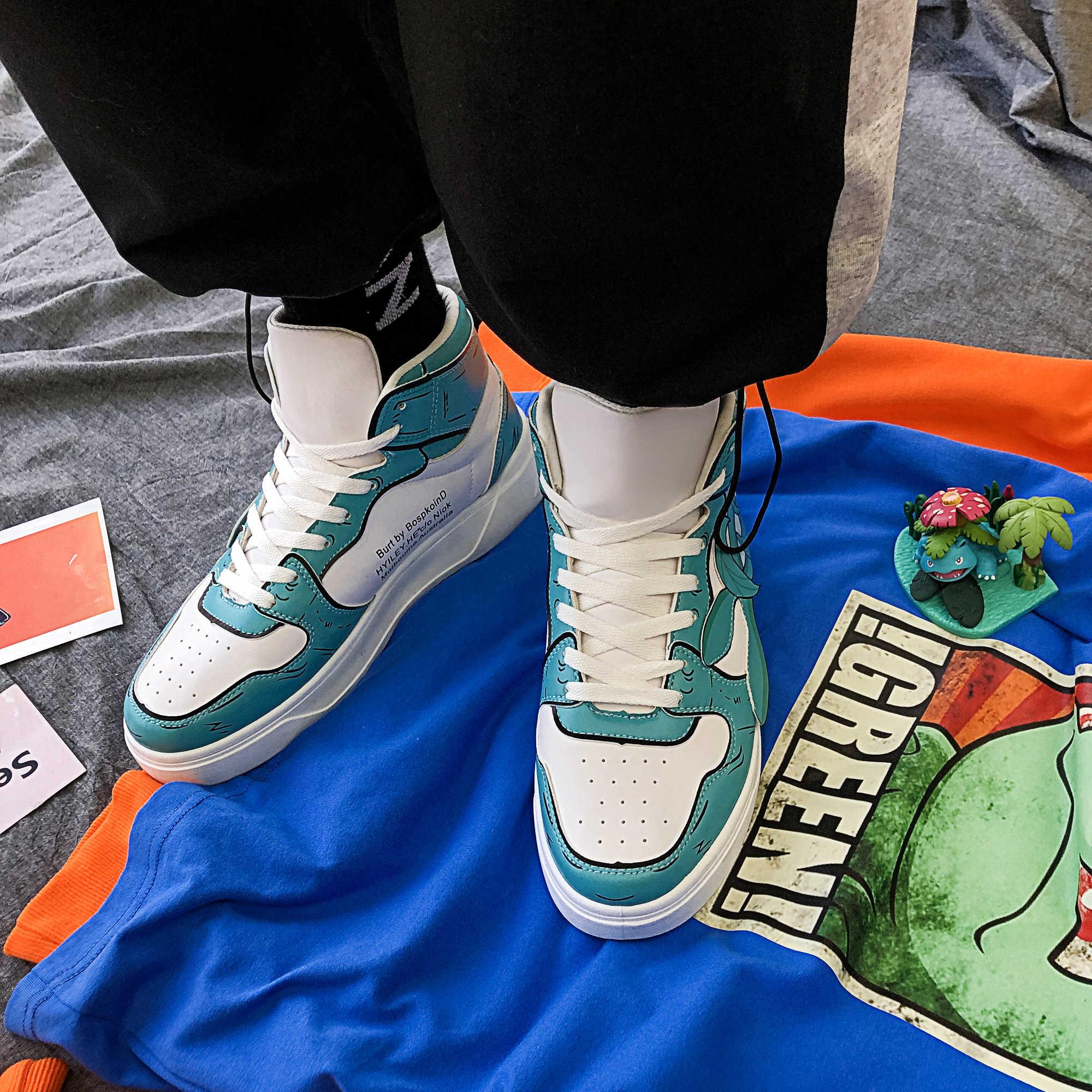 Giày Casual Nam Thể Thao Thoáng Khí Cổ Chân Giày JD 1 Giày Da Trang Trí Max 44 Huấn Luyện Viên Ra Màu Trắng Huấn Luyện Viên