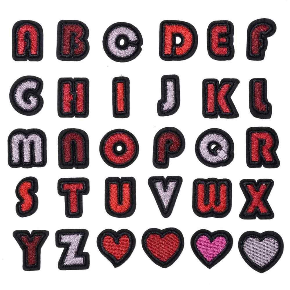 다채로운 편지 패치 알파벳 수 놓은 Applique 편지 철 패치에
