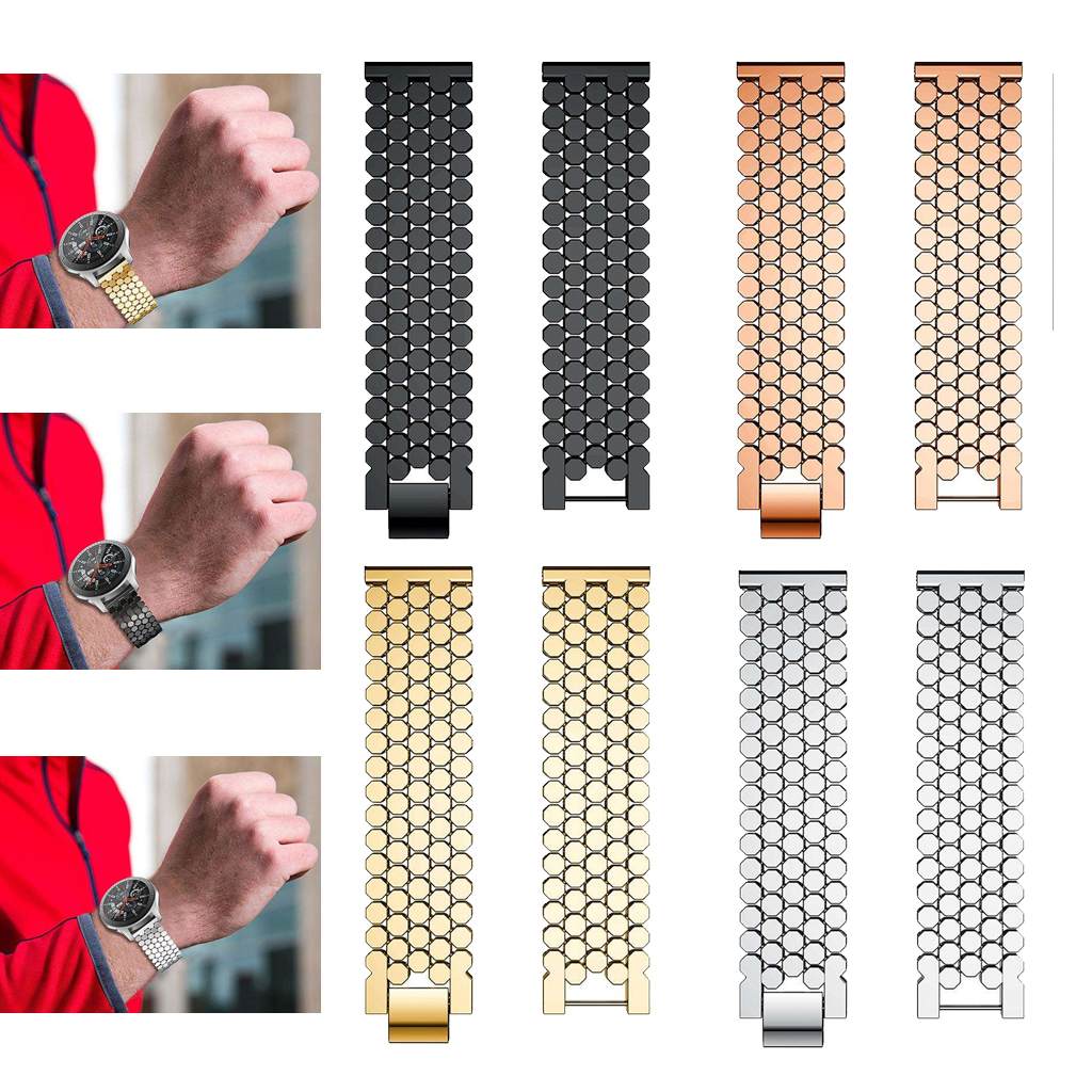 Stylish Watch Band for Sumsang Galaxy Watch 46mm Replacement Mens Business Sports Bracelet