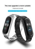 Braccialetti con cinturino Pulseira bracciale da polso in metallo MIband senza viti in acciaio inossidabile per Xiaomi Mi Band 4 3 5 Smart watch Bracelet