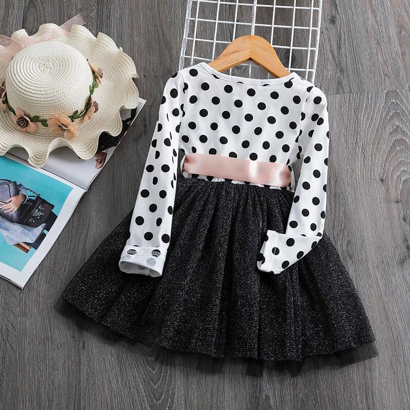 H85fa6b9fa7b74723b036eb3f81484a4db 2019 Autumn Winter Girl Dress Long Sleeve Polka Dot Girls Dresses Bow Princess Teenage Casual Dress Daily Kids Dresses For Girls
