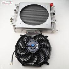 2 RANGÉES 28/32MM/TUYAU En Aluminium Radiateur 92-00 POUR Honda POUR Civic EK PAR EXEMPLE D15 D16 B16 B18 Radiateur + Ventilateur + Le cadre de ventilateur