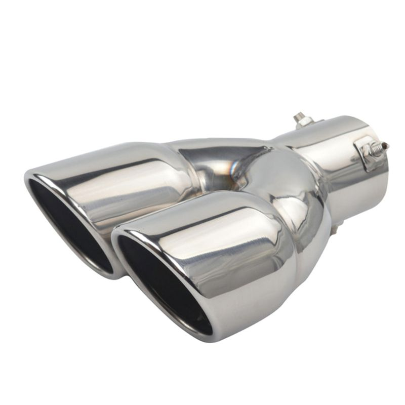 Muffler Exhaust Dual Exhaust Tip Tailpipe 2.5 Inch Inlet 3