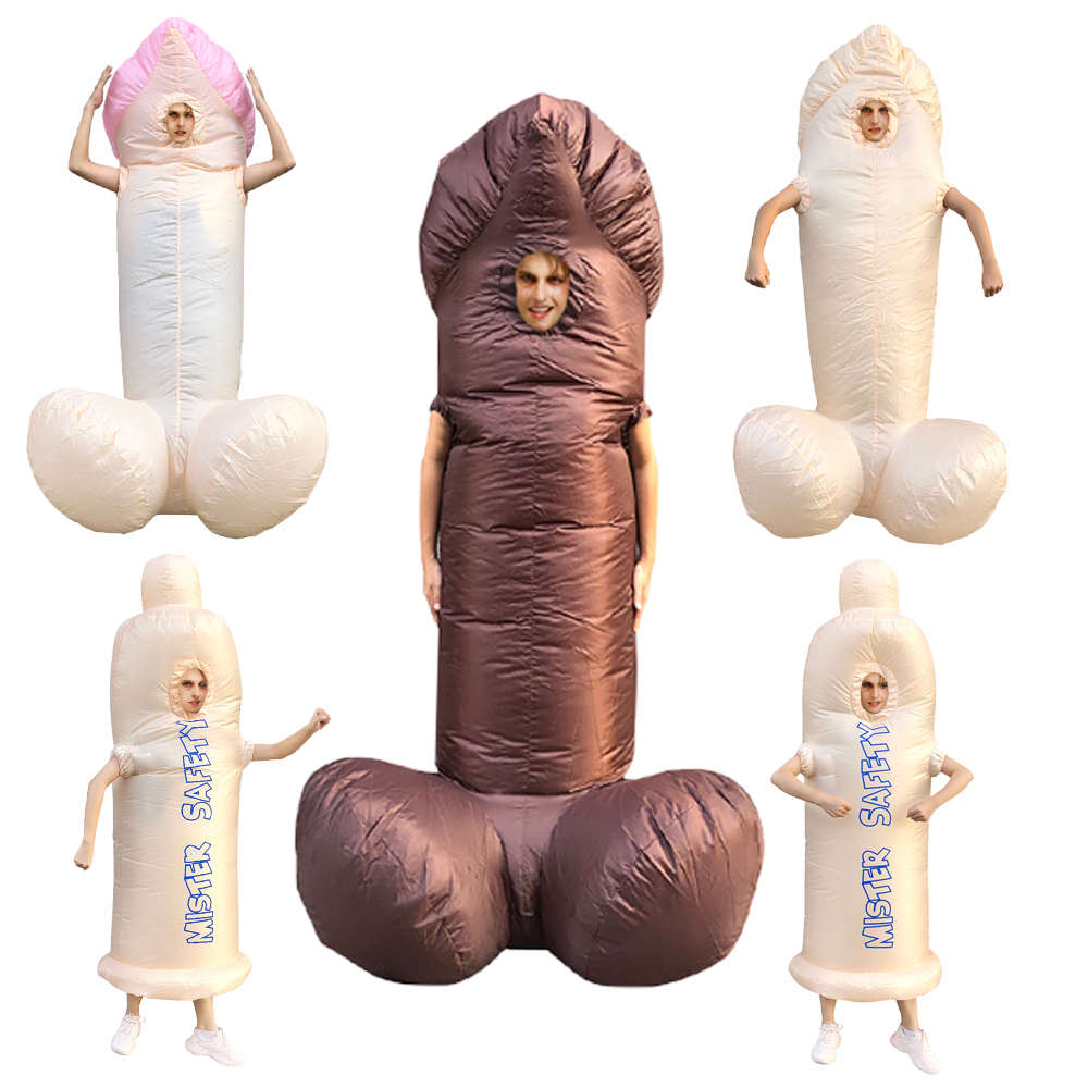Halloween Costume Cosplay Stag Night Inflatable Willy Adult Costumes Fancy Dress Penis Sexy Full Body Suit Disfraces Adultos