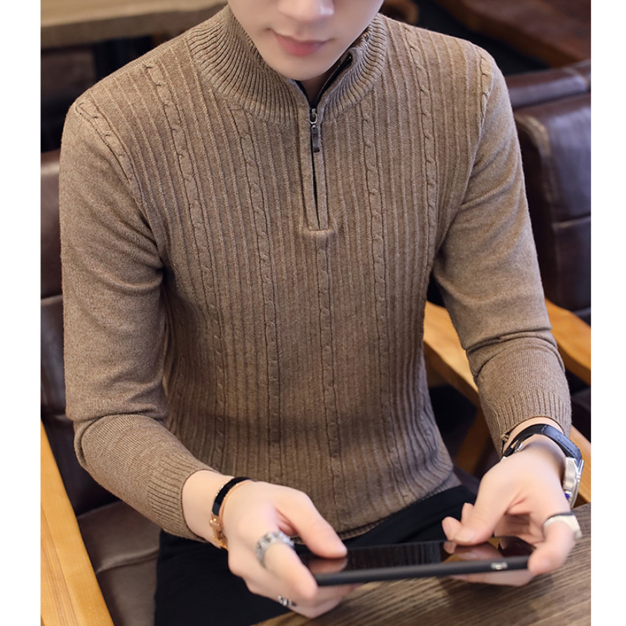 2020 Brand Clothing Fasdhion Men Sweater Men Pullover Knitwear New Arrival Autumn Winter Fashion Turtleneck Sweater Men Clothes