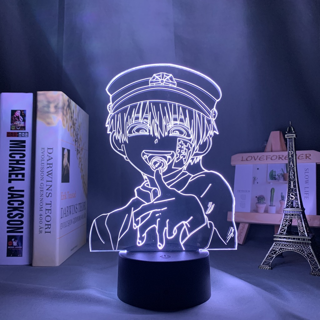 Светодиодная носветильник лампа Hanako Kun в виде унитаза 3d, светодиодный ночсветильник для декора комнаты, подарок на день рождения, в туалет, н...