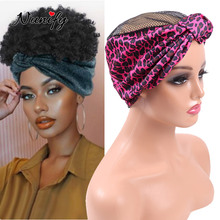 Wig-Band-Cap Edges Drawstring Nunify Headband Braid Crochet Adjustable for with Cross-Knotted
