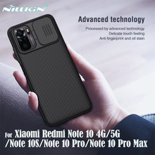 Dla Xiaomi Redmi Note 10 Pro Case Note10 10S 4G 5G pokrywa NILLKIN CamShield slajdów obiektyw aparatu ochrony dla Redmi uwaga 10 Pro Max