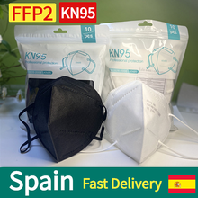 10-100 Pieces CE FFP2 Mask 5 Layers KN95 Dust Masks Face Protective FPP2 Mascarillas Filter Respirator FPP3 FFP3 Reusable