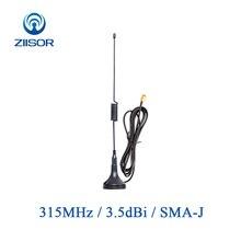 2 個 315MHz アンテナ磁気ベースオムニ 315 メートルのアンテナ SMA 男性無指向性 Antena ワイヤレスモジュール空中 TX315 XPL 100