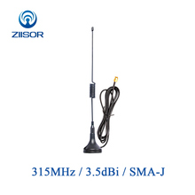 2pcs 315MHz Sucker Antenna with Magnetic Base Omni SMA Male Antena Data Transmission Wireless Module Ziisor TX315-XPL-100