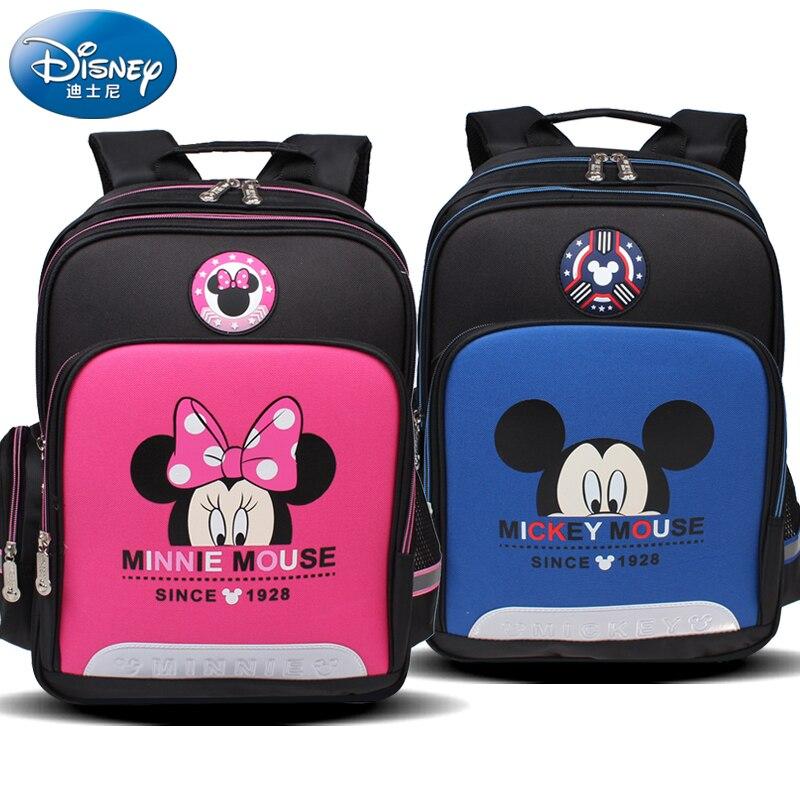 Disney mickey minnie estudante mochila crianças meninos
