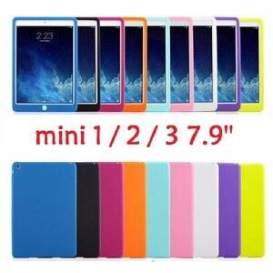 Цветной Резиновый чехол Suger для планшета iPad mini 2 mini 3 Мягкий силиконовый чехол A1432 A1599 A1490, чехол для iPad mini 1 2 3 7,9 дюйма