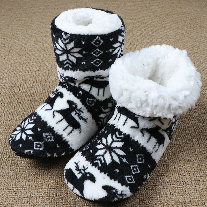 Winter Fluffy Slippers House Slippers Indoor Furry Slides Warm Plush Christmas Shoes Pantoffels Dames,Pink,7.5