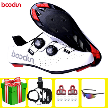 цена на BOODUN road cycling shoes Sapatilha Ciclismo professional racing bike bicycle sneakers ultralight breathable self-locking shoes
