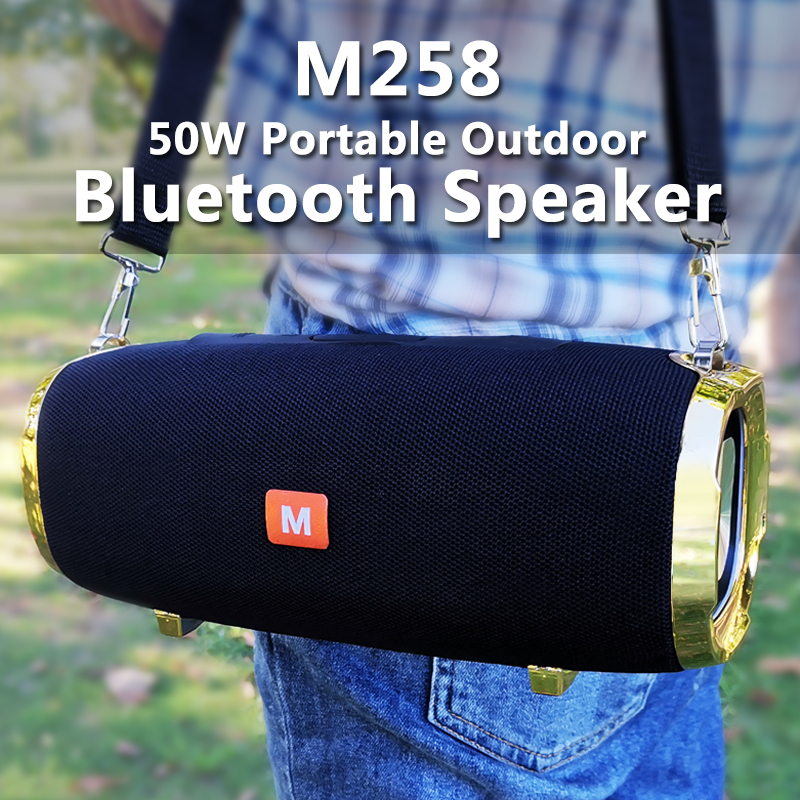 50 Вт Super Bass Bluetooth-динамик Big Power Открытый Портативный Colum 3D-стереосистема HIFI BoomBox Домашний кинотеатр Музыкальный центр для компьютера 4000 мАч Ба...