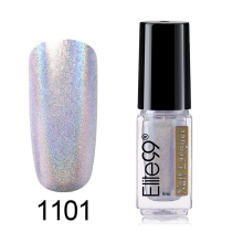 Elite99 6ml Holographic Laser Nail Polish Shining Glitter Nail Art Lacquer Polish Nail Stamping Polish Manicure Gorgeous Colors