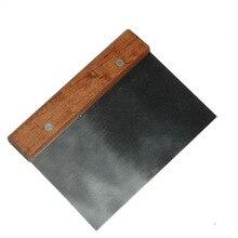 Бабочка жареная нержавеющая сталь деревянная рукоятка разделенная поверхность Толстая сильная-пекарня ban dao скребок для теста