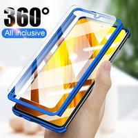 Luxo 360 proteção de corpo inteiro caso para xiaomi mi poco x3 pro nfc m3 10t lite nota 10 9 9t 8 a3 a2 5x 6x max 2 3 jogar f1 capa