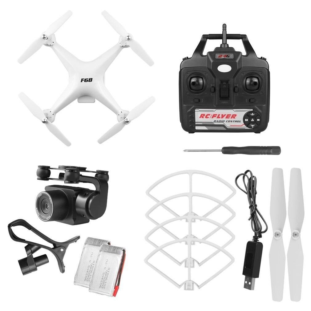 F68 RC Drone 4k RC Quadcopter dron con HD 1080P HD Wifi Cámara Servo CES Cámara gesto foto 6-axis Gyro helicóptero Mejor Precio 16MP 4K HD Cámara WiFi FPV RC Drone plegable flujo óptico quadcóptero que mantiene altitud 6-axis gyro rc dron helicóptero
