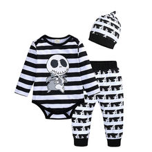 Хэллоуин Одежда для новорожденных малышей маленьких мальчиков