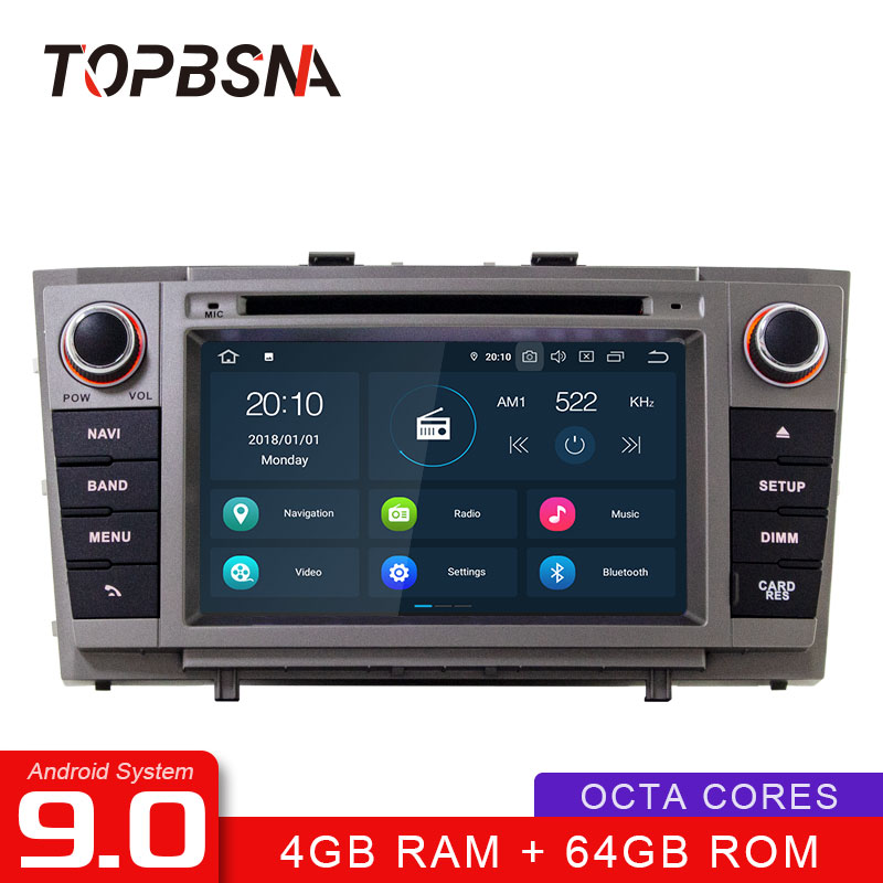 TOPBSNA Car DVD Player <font><b>Android</b></font> 9.0 For <font><b>Toyota</b></font> <font><b>T27</b></font> Avensis 2008-2013 GPS Navigation Multimedia 2 Din Car Radio Stereo WIFI RDS SD image