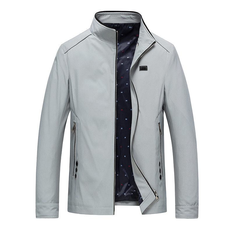 Popular Casual Jacket Men's Autumn Winter Solid Color Male Jacket New Style Male England Thin Men Jacket Coats Jaqueta Masculina